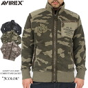 AVIREX-avirex 6133257 you prefer to CAMO COMBINATION stand-up jacket Camo pattern back hair body with herringbone fabric combination used to ヴィーアウター inner