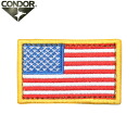 Can be attached to products with the Velcro Panel CONDOR Condor U. S. FLAG PATCH ( emblem ) RWB caps, bags, jackets, etc.