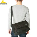 GREGORY Gregory Metro Messenger メトロメッセン Messenger black sleek style and a simple look anywhere best scene in your everyday use Messenger bag