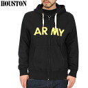 HOUSTON Houston WIP monopoly sale U.S.ARMY military sweat parka BLACK popular sweatshirts series awaited in the WIP monopoly model of development