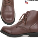 Reprinted half of brand new US Army WW2 インファクトリーブーツ Brown American paratrooper boots design was considered more than a century ago