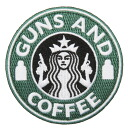 Can be attached to items that have a Velcro Panel, such as GUNS AND COFFEE patch (patch ) with Velcro GREEN, WHITE Large U.S. delivery makers manufactured goods bags and soft shell