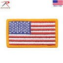 Can be attached to the product with a Velcro Panel ROTHCO Rosco U.S.FLAG PATCH FULL COLOR ( emblem ) CAP, bag, jacket
