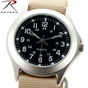 ROTHCO Rothko 4527 MILITARY STYLE QUARTZ WATCH KHAKI lightweight but fits on the arm-sized Board is easy to see outdoors, survival game can be very active field watch