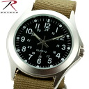 ROTHCO Rothko 4127 MILITARY STYLE QUARTZ WATCH OLIVE lightweight arm feels size Board also easy to see outdoors, survival game can be very active field watch