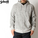 # fs3gmSchott shot in the USA ZIP HOODIE sweat parka US MADE ジップスウェットパーカー rib and pile skin soft comfortable to wear