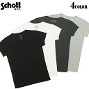 fs3gmSchott shot 3123086 ユーティリティーウェア can be used in the inner body line comes out clean and use comfortably stretchy ribbed material TC RIB rib V neck short sleeve t-shirt 4 colors