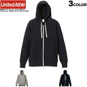 Neo vintage harmonic taste as members by rank points up to 10 times United Athle athle 8.4 oz fine French Terry sweat full Zip Hoodie (pile) 3 colors [5180-01] worn out sweatshirts