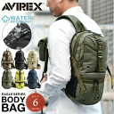 fs3gmAVIREX avirex EAGLE military canvas body bag black slim design unisex, inside the top is waterproof alms at a