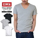 EDWIN Edwin daily were ET5020 RIB V neck short sleeve T shirts men's casual Tops T-shirt V neck Innerwear RIB V-NECK h/s TEE rib material