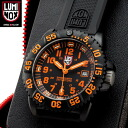 Model with fusion color scheme for rugged military spec of the LUMINOX Luminox 3059 ORANGE NAVY SEALs a COLOR MARK SERIES watch with European fashion trends