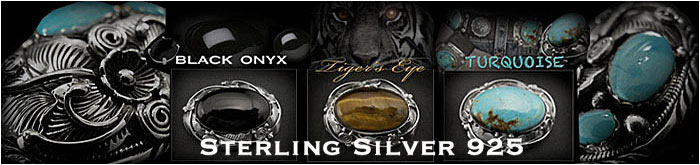 sterling /silver /concho/ turquoise /onyx /tigers/ eye