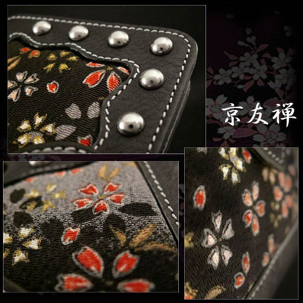 genuine leather iphone 6 plus  flip case wallet cover  japanese pattern