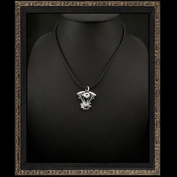 harley,davidson,motorcycle,engine,shovel,evolution,sterling,silver925,pendant,necklace