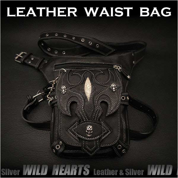 leather,biker waist,bag,fanny,pack,hip,belt,pouch,medicine,bag