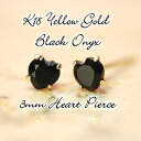 Total 3000 pairs surpassed! K18 natural Black Onyx earrings ★ simultaneously 3 each order with delivery!