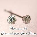 PT Platinum natural diamond stud earrings 0.1 ct
