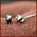 Only 4 points! PT プラチナローズカット black diamond grains 0.5 ct Stud Earrings