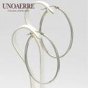 Unoaerre K18WG white gold hoop earrings fs3gm