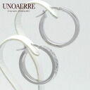 Unoaerre K18 white gold hoop earrings