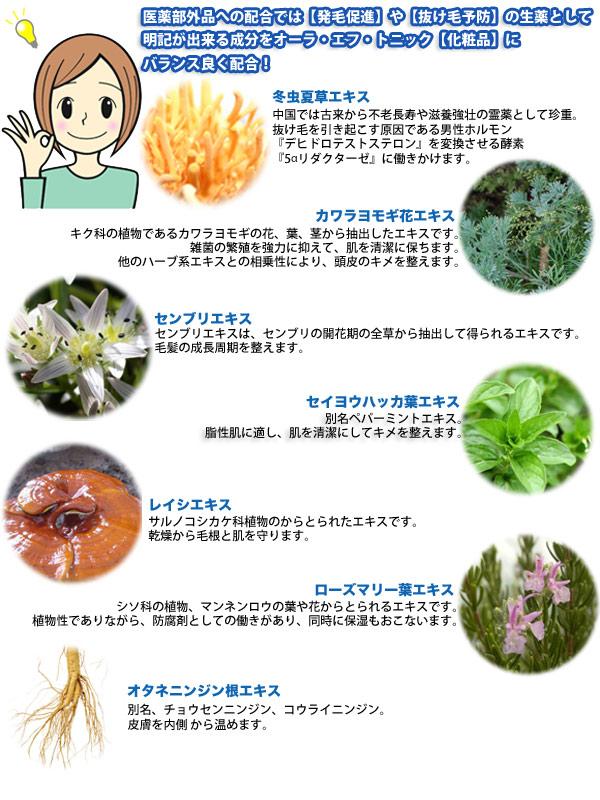 オーラエフトニック 7種の天然成分
