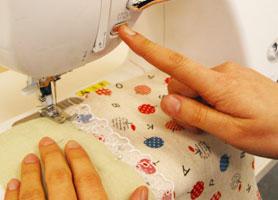 重ね縫い手元ボタン