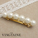 Pearl Barrette (L) / simple / Office / hair accessories H-216fs3gm