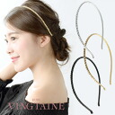 ラインストーンカチューシャ / Bijou / wedding / party / party head axe fascinators / hair accessories HK-6fs3gm