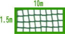 44 baseball eyes ball net 1.5m *10m (green)-proof