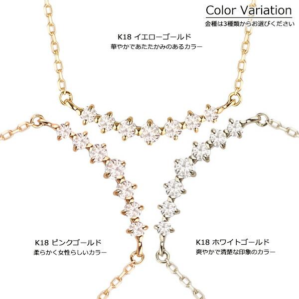 ダイヤモンドライン ネックレス K18