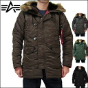 Alpha ALPHA ALPHA INDUSTRIES Alpha SLIM FIT N-3B TIGHT FIT N-3B SLIM FIT N-3B Parka tight fit slim fit N3-b parka Alpha industries