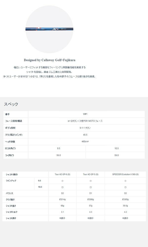 【送料無料】 キャロウェイゴルフ XR16 ドライバー Speeder 569 EVOLUTION  II  (S) シャフトモデル [Callaway]