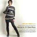 Outlet Sale 2 gradient / neck / tunic / dress.