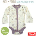 Finn+Emma 100% organic quality high quality long sleeve bodysuits (Flower design)
