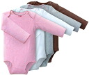 ★Class four pieces of Carter's regular article (Carter's) long sleeves body suits set (Girly Rose rompers body suit) of the relief