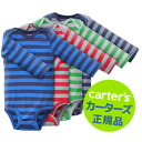 Special translation Ali price Carters genuine long-sleeved body suit 4-disc set ( Borders Boy rompers ) size: 12 M