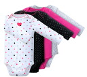★ peace of Carter's genuine (Carter's) long-sleeved body suit 4-disc set ( Big Heart, body suits and rompers )