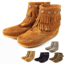Size exchange absolutely free! Minnetonka (Minnetonka) moccasin fringe サイドジップ Minetonka Moccasin Boots boots
