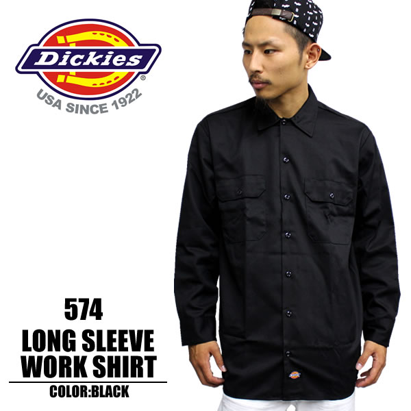 Badass rakuten global market dickies dickies workwear for Black long sleeve work shirt