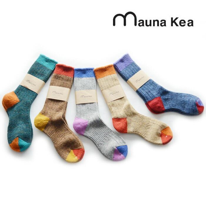 Mauna Kea(マウナケア)ウールつま先切り替えピコットソックス【216623】【23〜25cm】
