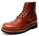 Time-limited country boots men boots real leather leather wing tip medallion ※ fu