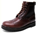 Period limited country boots men's boots leather leather wing tip Medallion * fu Yep_100