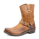 Time limited edition boots men's western boots short leather RC * fu Yep_100