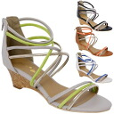 Point 3 times sandals Lady's low wedge back zip sandal cross present gift simple packing is possible in an entry
