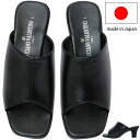 Point 3 times sandals Lady's mule 日本製国産太 heel Shin pull sandals present gift simple packing is possible in an entry