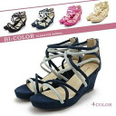 The autumn when it is easy to walk when point 3 times sandals Lady's lovely mature by color delicate strap thickness bottom wedge sole sandals (4 4 color size) shoes shoes are pretty in an entry in the spring and summer