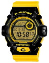 Period limited edition watches mens Casio CASIO g-shock G shock overseas model imports crazy colors Crazy Colors LED backlight and 20 ATM water resistant watches watch sport yellow black * fu