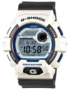 Period limited edition watches mens Casio CASIO g-shock G shock overseas model imports クレージーカラーズ Crazy Colors LED backlight 20 pressure waterproof watches watch sport white-black