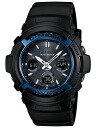 Period limited watches mens Casio CASIO g-shock G shock overseas model imports radio solar solar LED lights 20 ATM water resistant world time watch watch sports black * fu