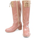 BC17431pbe / enamel rain boots with Ribbon. Cool as nicely to cute! Handy zip fs3gm